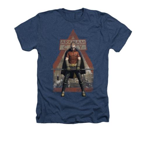 Image for Arkham City Heather T-Shirt - Arkham Robin