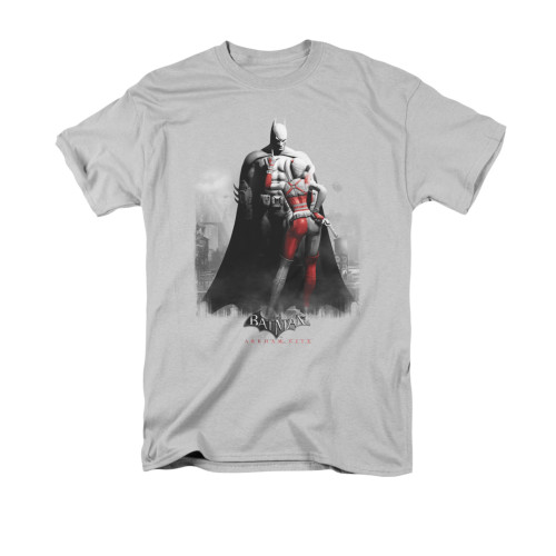 Image for Arkham City T-Shirt - Harley And Bats
