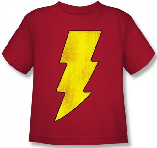 Image for Captain Marvel Shazam Logo Kid's T-Shirt