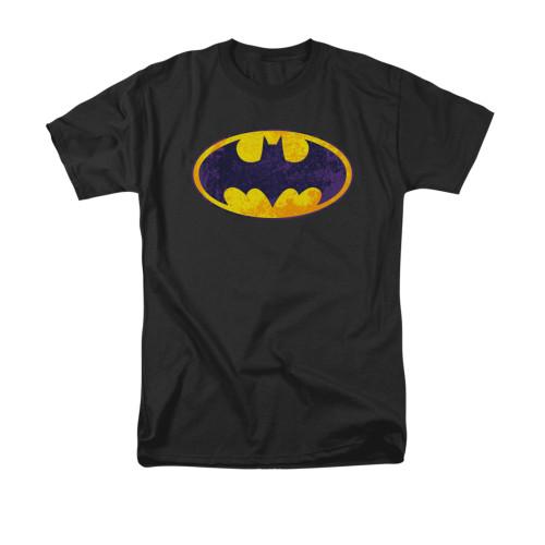 Image for Batman T-Shirt - Neon Distress Logo