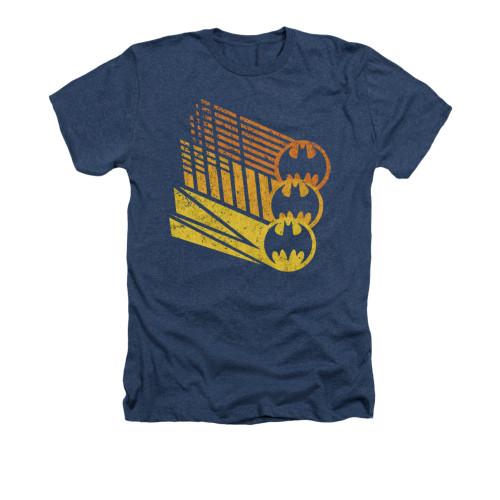 Image for Batman Heather T-Shirt - Bat Signal Shapes