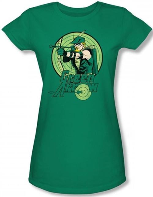 Image for Green Arrow Drawing Girls Shirt