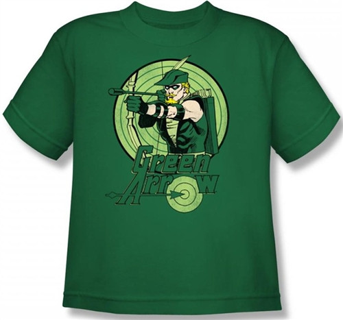 Image for Green Arrow Drawing Youth T-Shirt