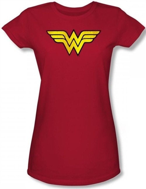 Image for Wonder Woman Distressed Classic Logo Girls Shirt