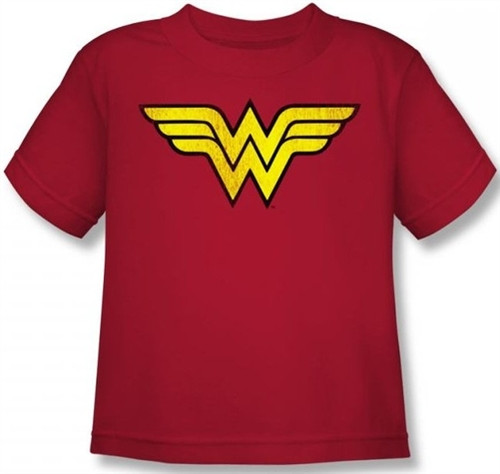Image for Wonder Woman Distressed Logo Kid's T-Shirt DCO277-KT