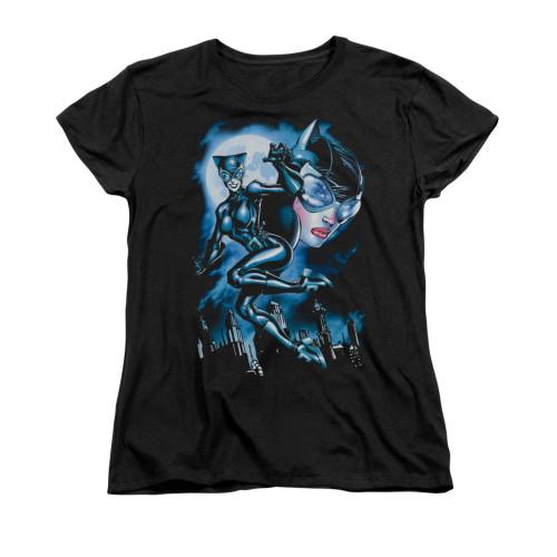 Image for Batman Womans T-Shirt - Moonlight Cat