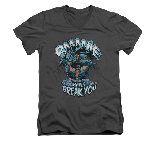 Image for Batman V Neck T-Shirt - Bane Will Break You