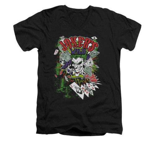 Batman V Neck T-Shirt - Jokers Wild