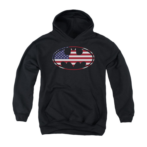 Image for Batman Youth Hoodie - American Flag Oval