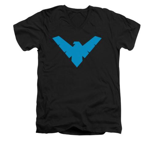 Image for Batman V Neck T-Shirt - Nightwing Symbol