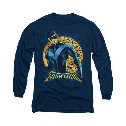 Image for Batman Long Sleeve Shirt - Nightwing Moon