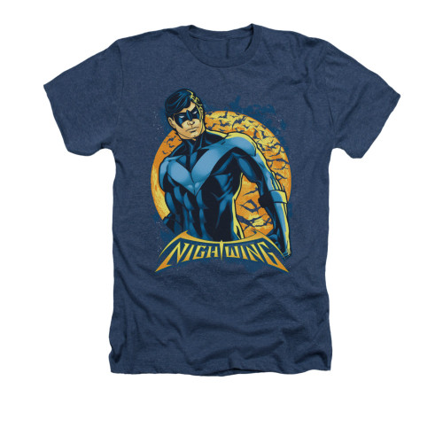 Image for Batman Heather T-Shirt - Nightwing Moon