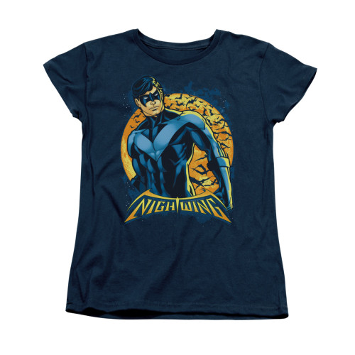 Image for Batman Womans T-Shirt - Nightwing Moon