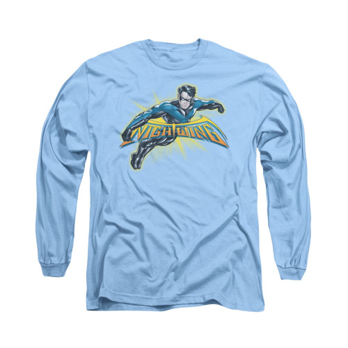 Image for Batman Long Sleeve Shirt - Nightwing Burst