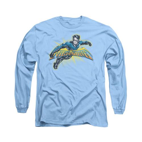 Image for Batman Long Sleeve Shirt - Nightwing Burst