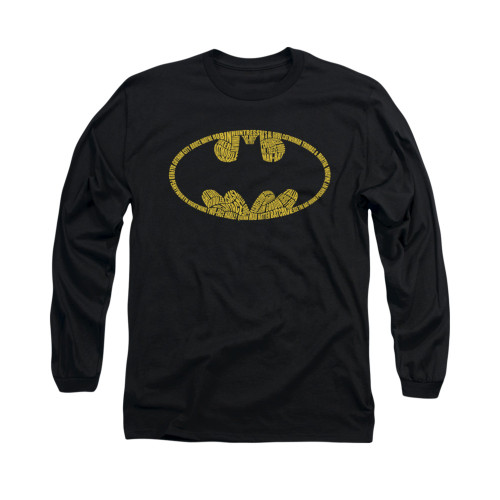 Image for Batman Long Sleeve Shirt - Word Logo
