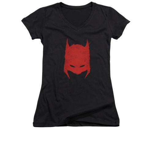 Image for Batman Girls V Neck - Hacked & Scratched