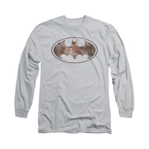 Image for Batman Long Sleeve Shirt - Heavy Rust Logo