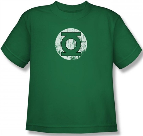 Image for Green Lantern Distressed Lantern Logo Youth T-Shirt