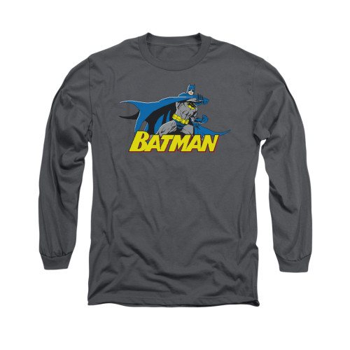 Image for Batman Long Sleeve Shirt - 8 Bit Cape