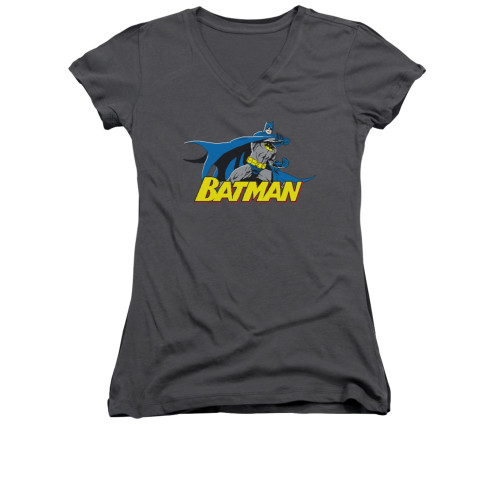 Image for Batman Girls V Neck - 8 Bit Cape