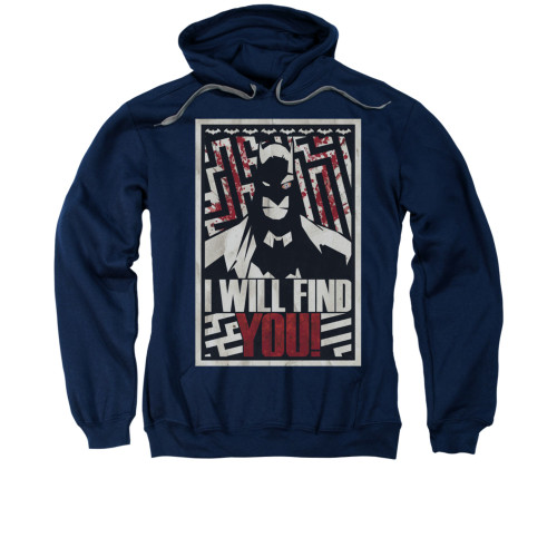 Image for Batman Hoodie - I Will Fnd You