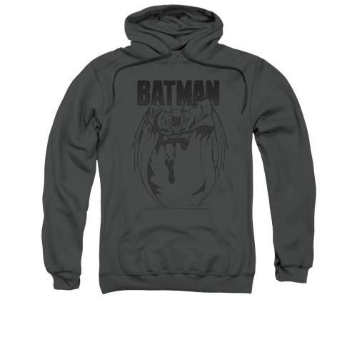 Image for Batman Hoodie - Grey Noise