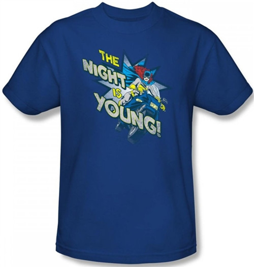Image Closeup for Batgirl The Night is Young T-Shirt