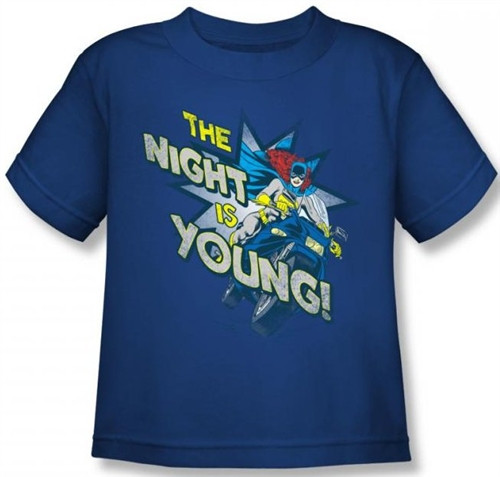 Image for Batgirl The Night is Young Kid's T-Shirt