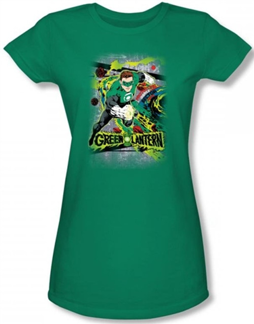 Image for Green Lantern Space Sector 2814 Girls Shirt