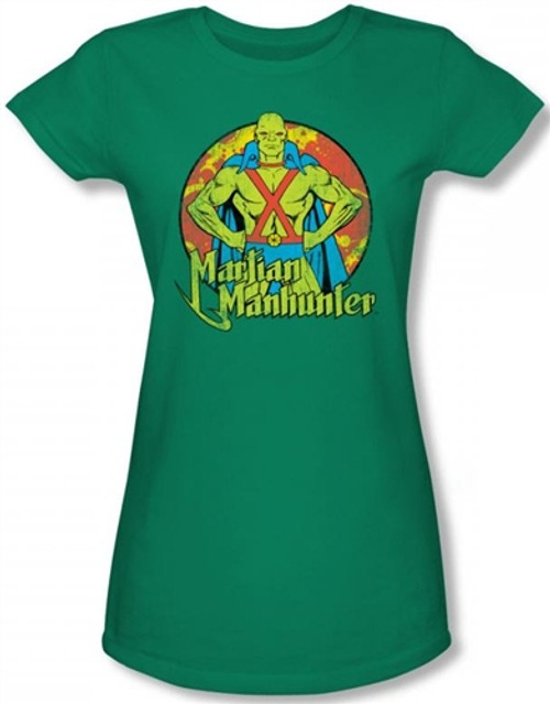 Image for Martian Manhunter Posing Girls Shirt