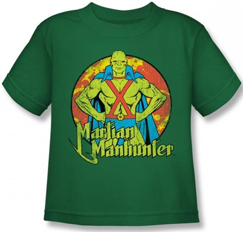 Image for Martian Manhunter Posing Kid's T-Shirt
