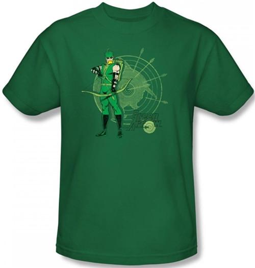 Image Closeup for Green Arrow Target T-Shirt