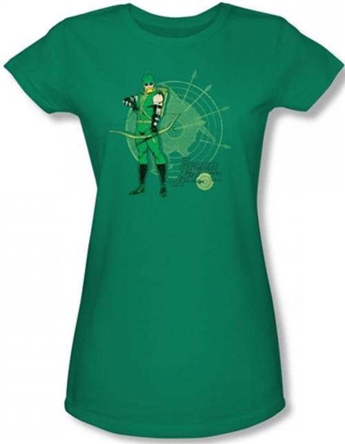 Image for Green Arrow Target Girls Shirt