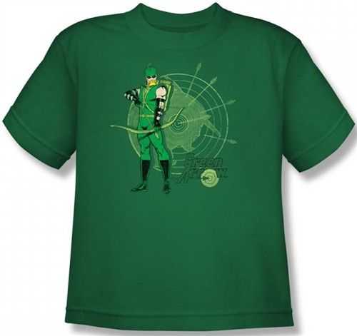 Image for Green Arrow Target Youth T-Shirt