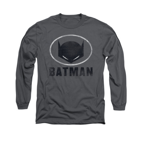 Image for Batman Long Sleeve Shirt - Mask In Oval
