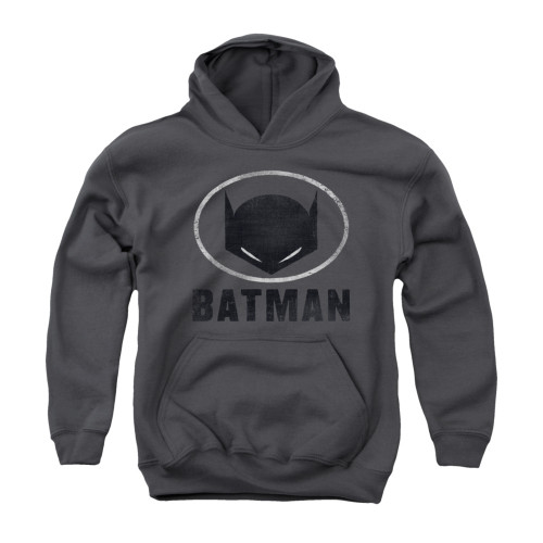 Image for Batman Youth Hoodie - Mask In Oval