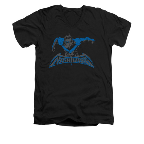 Image for Batman V Neck T-Shirt - Wing Of The Night