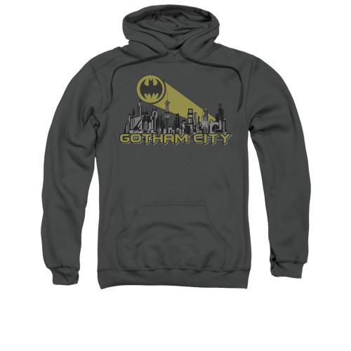 Image for Batman Hoodie - Gotham Skyline