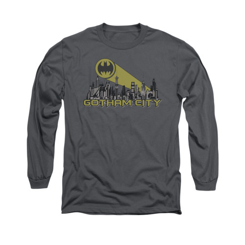 Image for Batman Long Sleeve Shirt - Gotham Skyline