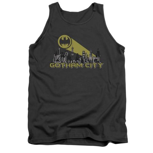 Image for Batman Tank Top - Gotham Skyline