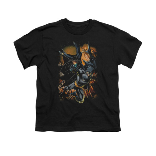 Image for Batman Youth T-Shirt - Grapple Fire