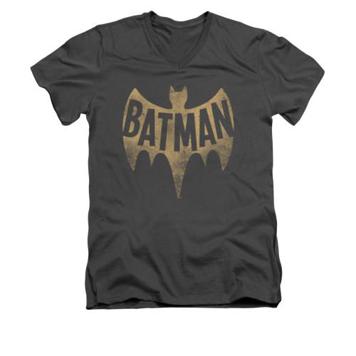 Image Closeup for Batman Classic TV V Neck T-Shirt - Vintage Logo