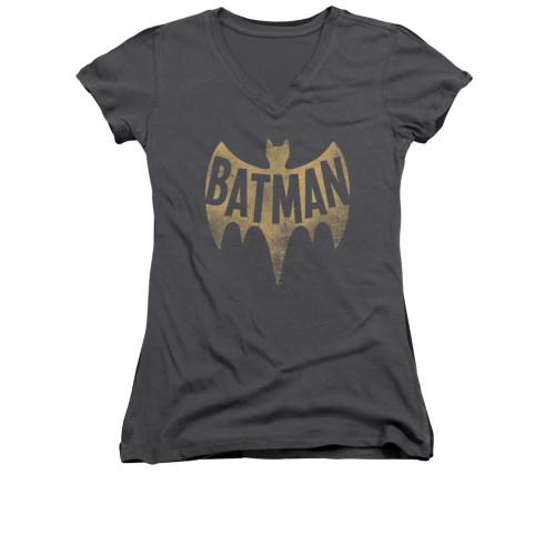 Image Closeup for Batman Classic TV Girls V Neck - Vintage Logo