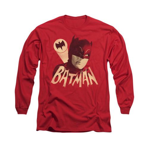 Image Closeup for Batman Classic TV Long Sleeve Shirt - Bat Signal