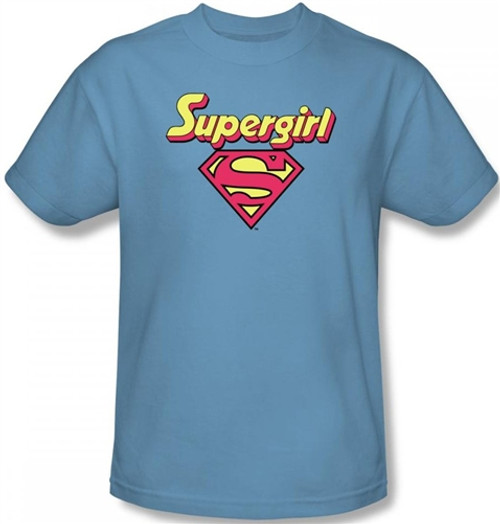 Image Closeup for Supergirl Logo T-Shirt