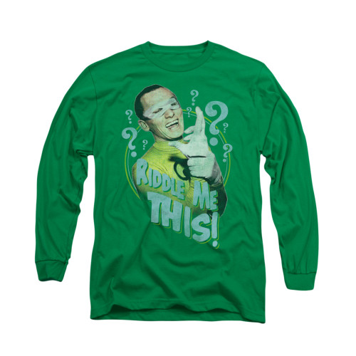 Image Closeup for Batman Classic TV Long Sleeve Shirt - Riddle Me This