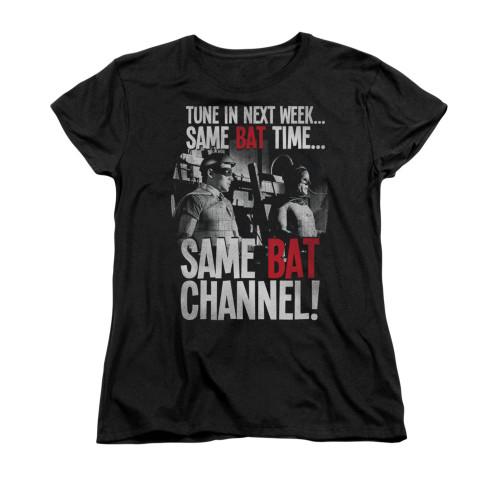 Image Closeup for Batman Classic TV Womans T-Shirt - Bat Channel
