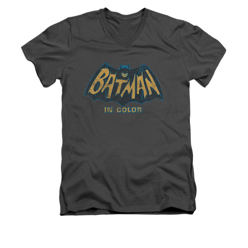 Image Closeup for Batman Classic TV V Neck T-Shirt - In Color