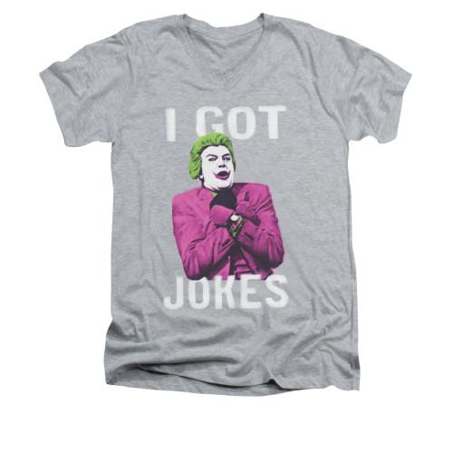 Image for Batman Classic TV V Neck T-Shirt - Got Jokes